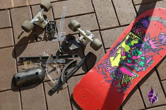 fun4family Upcycling Skateboard Einzelteile
