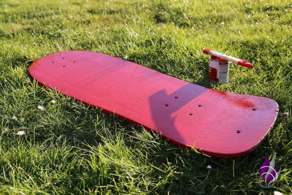 fun4family Upcycling Skateboard Farbe streichen Vorderseite