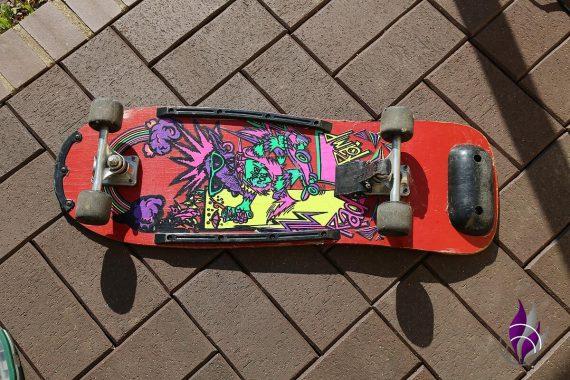 fun4family Upcycling Skateboard Rückeseite