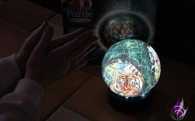 Sponsored Post 3D Puzzle Nachtlicht Raubkatzen von Ravensburger – Puzzlespaß im Test
