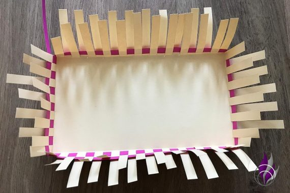 fun4family DIY Oster-Korb flechten Papier Tonkarton
