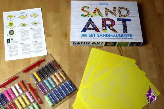 fun4family Sand Art Sandmalerei Sandbild Material
