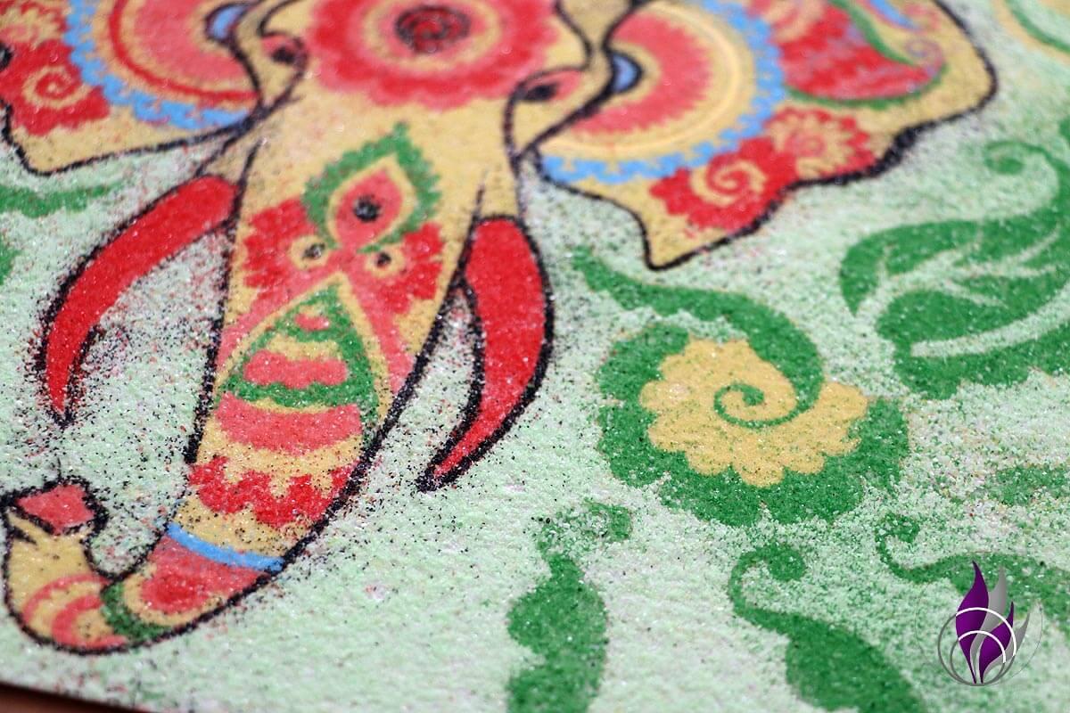 fun4family Sand Art Sandmalerei Sandbild Sand verwischen