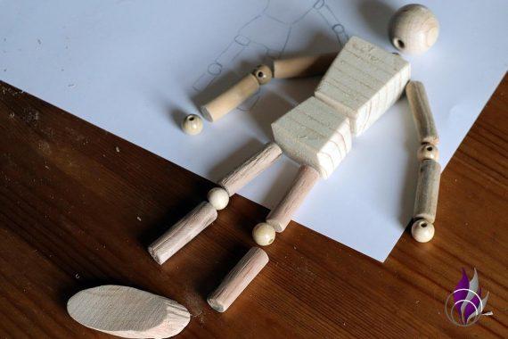 fun4family Wooddoll Holzpuppe zusammenlegen 2