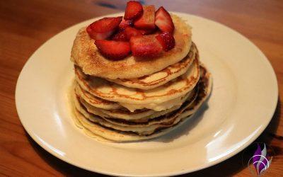 Zuckerfreie Pancakes – einfach, schnell gebacken und mega lecker