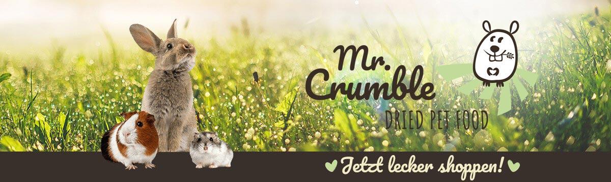 Nagerfutter und Nagerleckerlis bei Mr. Crumble entecken