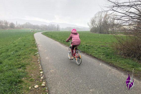 Bewegungs-Challenge Schule Fahrrad fahren 5