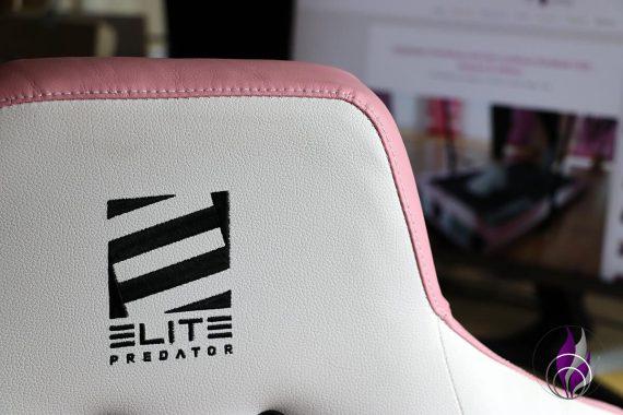 Elite Gamingstuhl Stickerei Rückenlehne