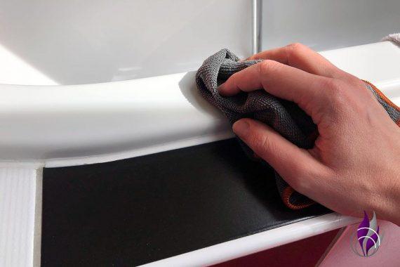 Hygiene Microfasertuch Poliyboy Anwendung Bad Fliesen