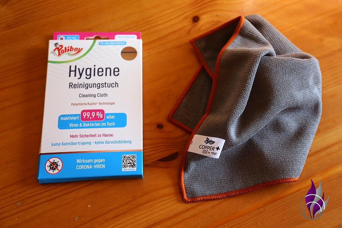 """<span class=""""sponsored_text""""> Sponsored Post</span> Hygiene Reinigungstuch mit KupferTechnologie von Poliboy im Test"""