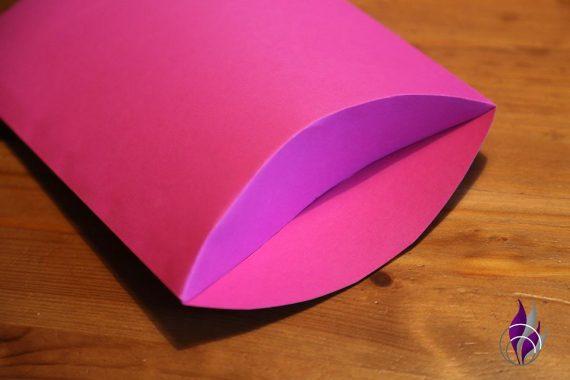 Kissenschachtel Pillow Box DIY Seitenlasche falten
