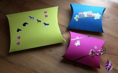 Kissenschachtel als Geschenkverpackung – wir basteln eine Pillow Box