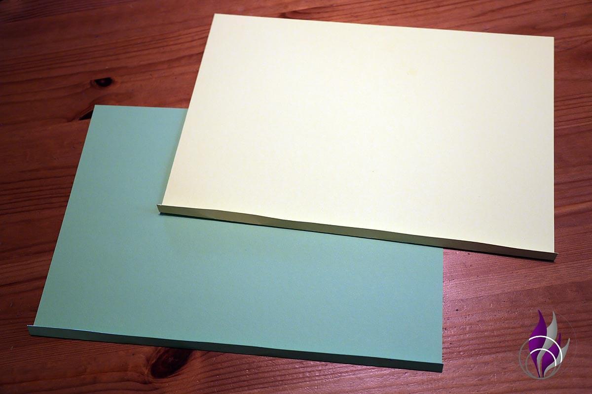 Kissen Schachtel zweifarbig Pillow Box basteln
